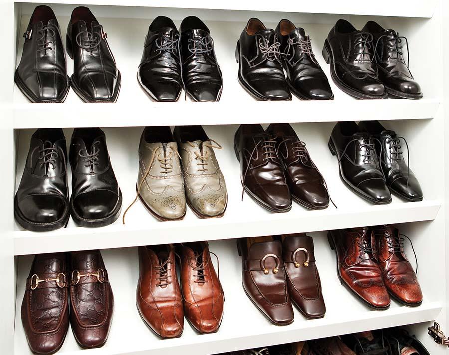 Image of organized shoes Jocelyn Stuart Home Editing